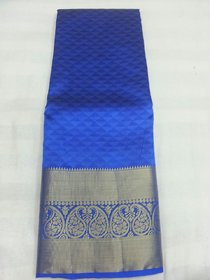 Silkworm Gold & Blue Art Silk Embroidered Saree With Blouse