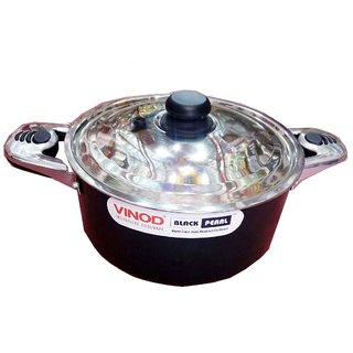 Gift Centre Steel Casserole(2.5 L)-Black