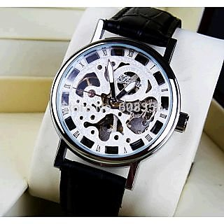 Open dial watch for men