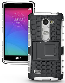 Heartly Flip Kick Stand Spider Hard Dual Rugged Armor Hybrid Bumper Back Case Cover For LG G3 Stylus D690 D690N Dual Sim - Best White