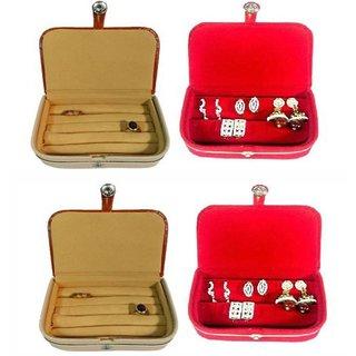 Atorakushon Combo Of Multipurpose Ring Box Earring Case Jewellry Pouch Travelling