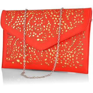 Stoln Women Red Clutch Bag Clutch Bag-6618-1