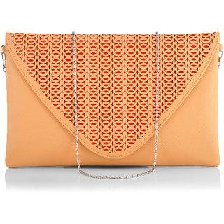 Stoln Women Apricot Clutch Bag-A-12020Apricot