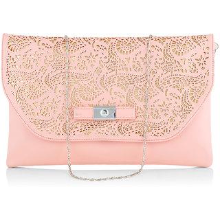 Stoln Women Pink Clutch Bag-A-12070Pink