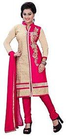 Aashvi Creation Womens Cotton Embroidered Unstitched Salwar Suit Dress Material-(1092)