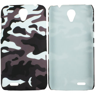 Heartly Army Style Retro Color Armor Hybrid Hard Bumper Back Case Cover For Lenovo A850 Dual