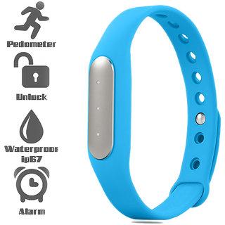 Bingo Waterproof TW02 Heart Rate Monitoring Smart Fitness Band- SkyBlue