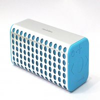 Finch Blue -Premium Aluminium Case Portable Wireless Bluetooth Speakers With AUX And MicroSD-Silver Blue