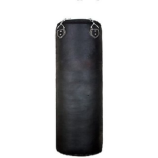 Facto Power 3 Feet Length BLACK Color Unfilled Synthetic Leather Punching Bag