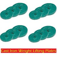 Cast Iron Weight Lifting Home Gym Weight Plates 30 Kg W