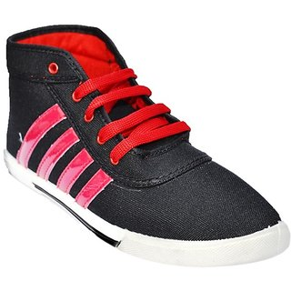 Kizashi Black and Red Casual Shoes