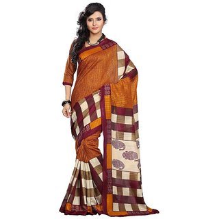 Riti Riwaz Brown Bhagalpuri Silk Saree with Unstitched Blouse SS16BGP28