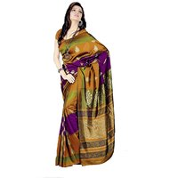 Aaina Multicolor Silk Embroidered Saree With Blouse