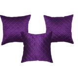 Box Quilting Cushion Cover Purple 30/30 Cm 3 Pcs Set