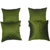 Box Quilting Cushion Cover Green 30/30 Cm 4 Pcs Set