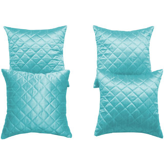 Box Quilting Cushion Cover Sky Blue 30/30 Cm 4 Pcs Set