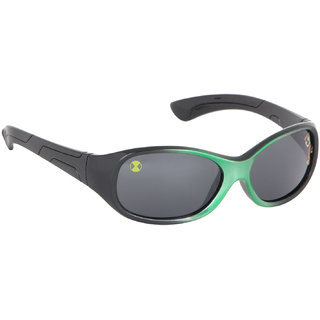 Stoln Ben 10-Kids Black  Green Oval Sunglass-121-122-9-2