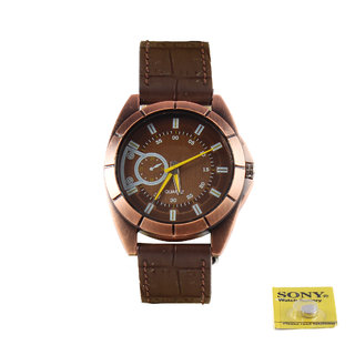 Analogue Full Brown Casual Watch-ED7
