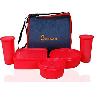 Sigmaware Best Buy 5 Containers Lunch Box(1150 ml)