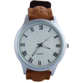 Silver Matt Dial Dummy chronograph Analog Mens watch-ED16