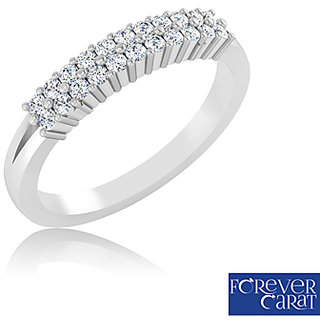 Certified 0.23ct Natural Diamond Ring 925 Sterling Silver Diamond Ring LR-0263