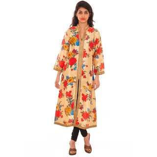 Readymade Printed Full Sleeves Kurtis In Multi Colour