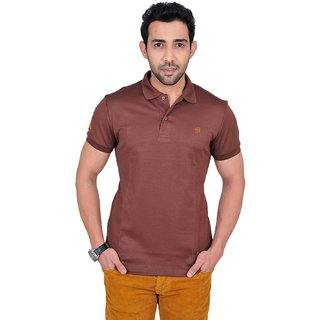 Fabnavitas Polo Neck Brown T-shirt