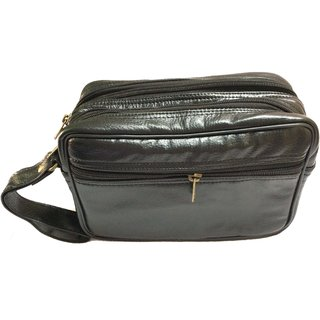 GENUINE LEATHER CASH POUCH / TRAVEL KIT FOR MEN AND WOMEN MEDIUM SIZE