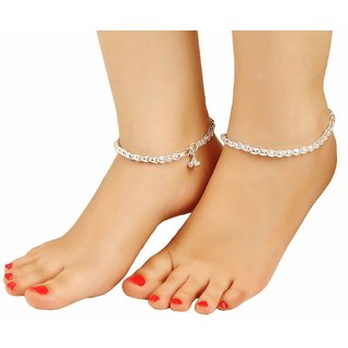 vintage product style foot heart yejinglian com pure silver anklet jewelry anklets shaped dhgate from female brief