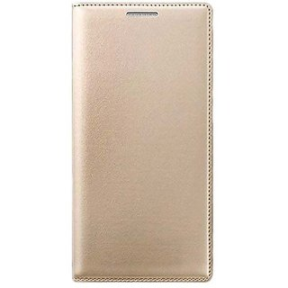 pretty nice 6568f cdaff Snaptic Exclusive Golden Leather Flip Cover for Micromax Bolt Q327