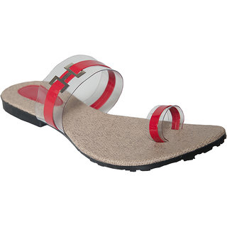 Azores Red Flat Sandals