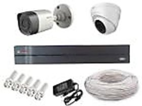 Cp Plus 1 Dome Camera  1 Bullet Camera +4 Channel Dvr +