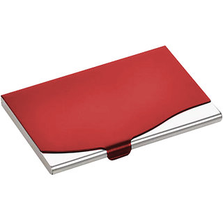 iHomes Stainless Steel card holder RED