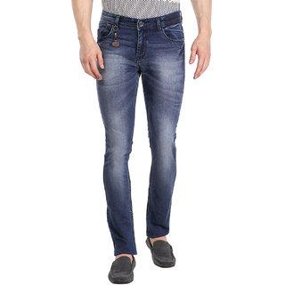 Fever Blue Lycra Denim Solid Jeans