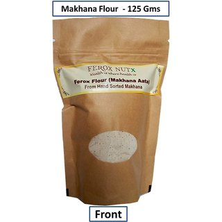 125 Gms Ferox Flour- Makhana Aata  1st time Branded  Packaged - Totally Natural High Essesntial Amino Acid Vegan Food