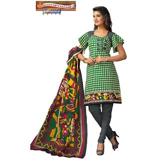 Karishma Suits Multicolor Cotton Printed Unstitched Dress Material