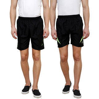 Grand Bear Men's Multicolor Shorts (Pack of 2)