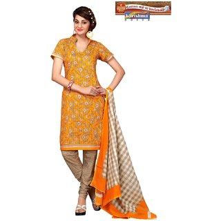 a5e0d586ad2254 Karishma Suits Multicolor Cotton Printed Unstitched Dress Material