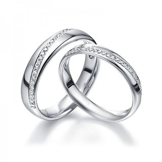 RM Jewellers CZ 92.5 Sterling Silver American Diamond Lovely Blossom Couple Band For Men and Women