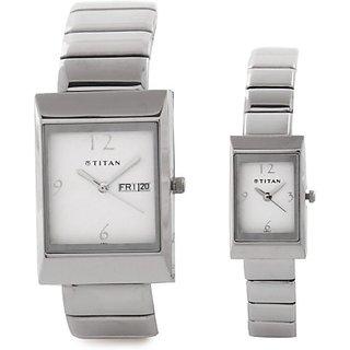 Titan 19572957SM01 Bandhan Analog Watch  - For Couple