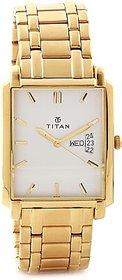 Titan Quartz White Square Men Watch 1506YM01