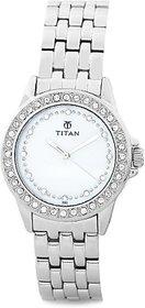 Titan Analog White Round Watch -9798SM02