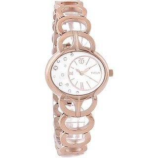 Titan Quartz White Dial Women Watch-9922WM01
