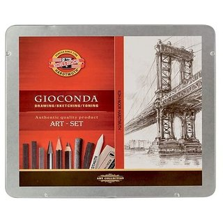 Koh-I-Noors Art Set (Hardtmuth Gioconda, Grey Tin Box)