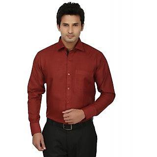 Fizzaro Full Sleeves Plain Formal Mens Shirt