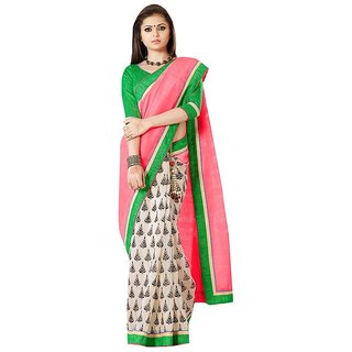 Glorious Fashion  Design Dark Pink Bhagalpuri Saree