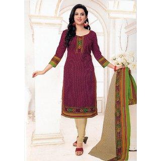 Soft Cotton Salwar Suit With Dupatta