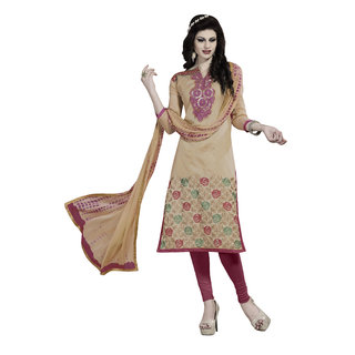 Aasvaa Womens  Girls heavy Embroidered Unstitiched Dress Material