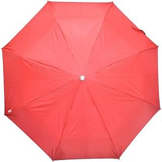 Fendo Plain Red 3-Fold Umbrella