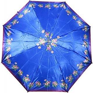 Fendo Floral Blue 2-Fold Umbrella